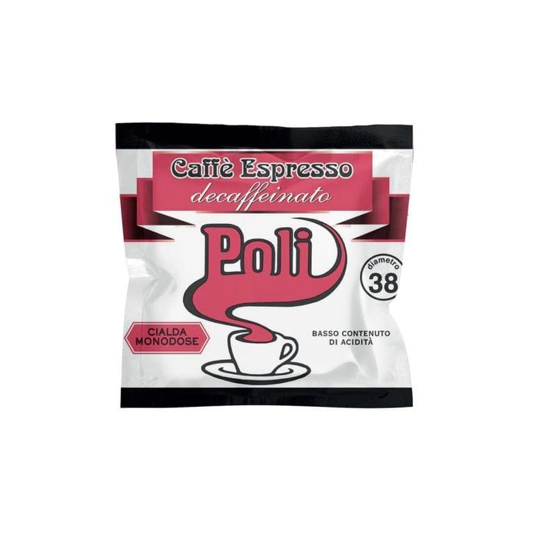 Caffè Poli - Decaf espresso 38mm diameter pods